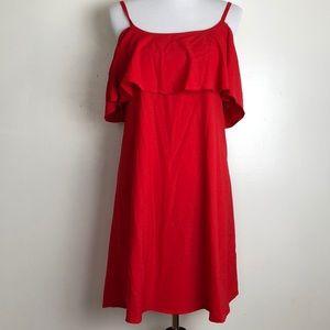 Bobeau women's dress red size S new small rip J19